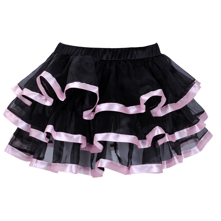 Wholesale Pink stripe Chiffon Pettiskirt SEP524