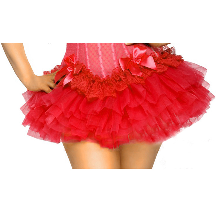 Wholesale Red Puff Short Skirt SEP518