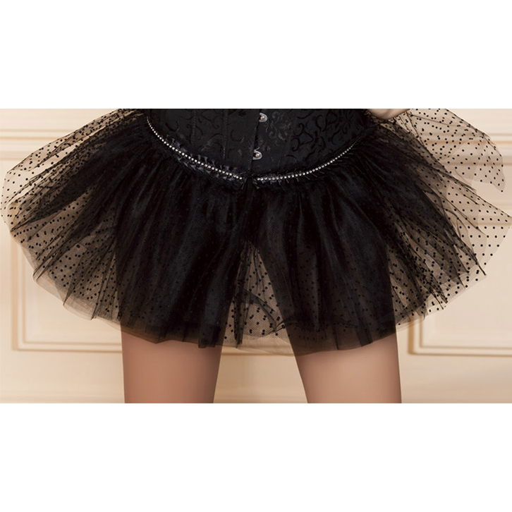 Wholesale black dot pettiskirt SEP535