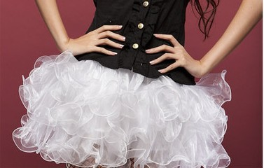 Wholesale white Organza Skirt SEP542