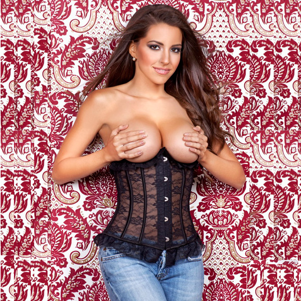 Wholesale Black Lace Underbust Corset BTS524