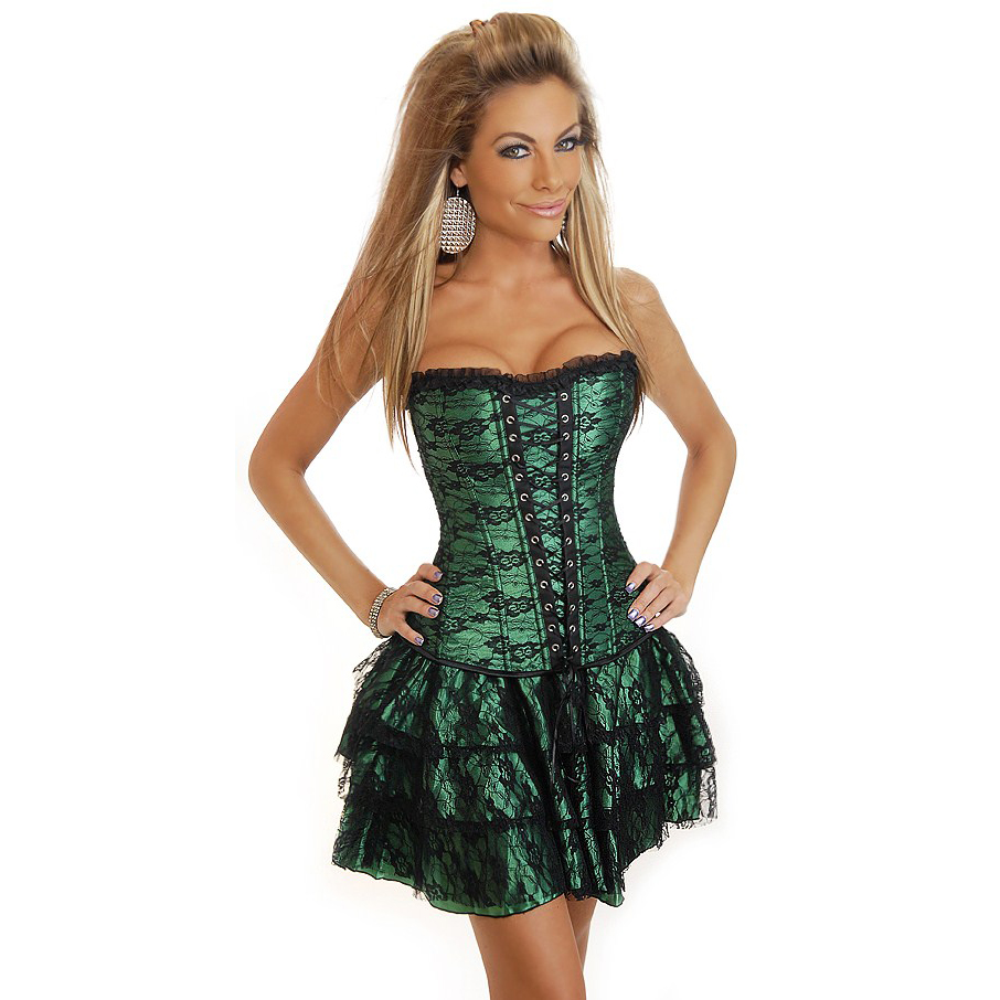 Wholesale 3pcs Corset, Skirt & g-string CPS581