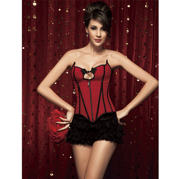 Wholesale Brocade Corset & Lace Shorts CPS526