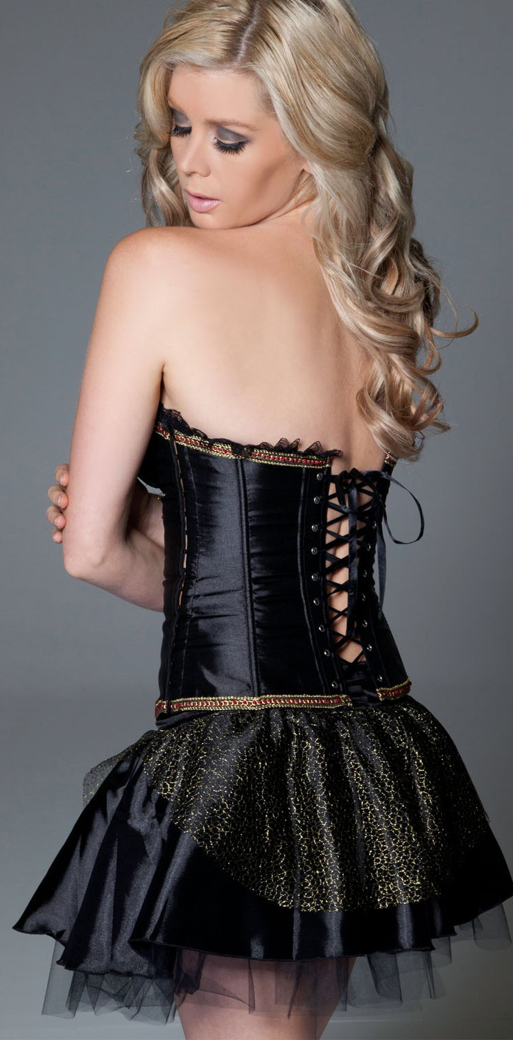 Wholesale Chain Underwired Corset & skirt CPS542