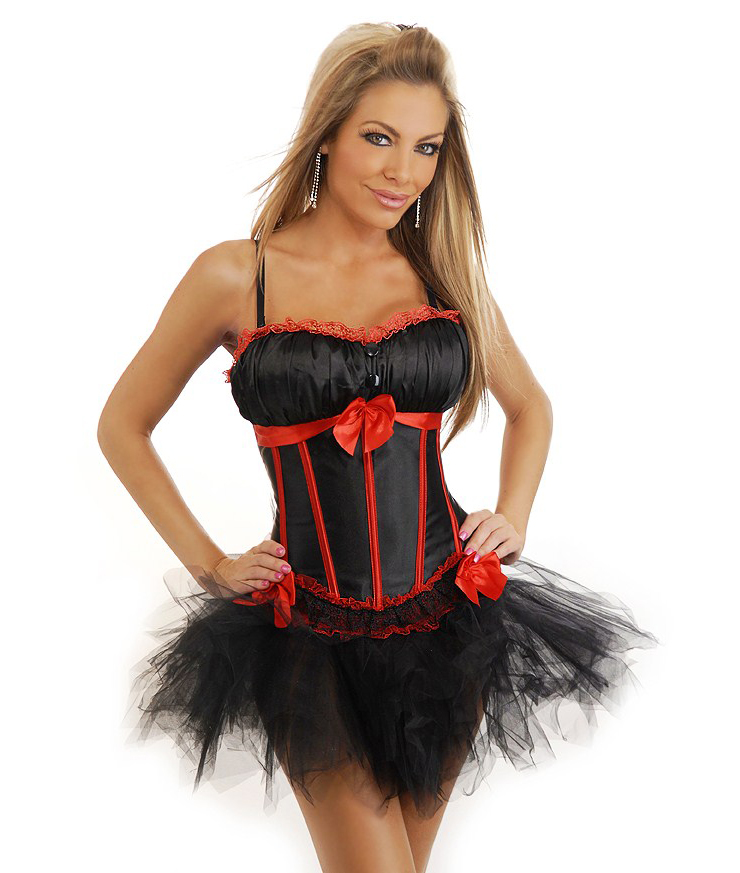 Wholesale Corset & Pettiskirt Set CPS556