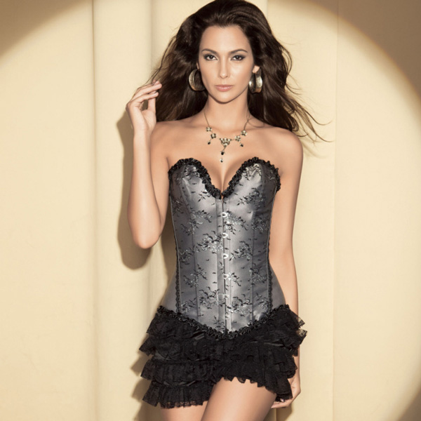 Wholesale Floral Sparkle Corset & shorts CPS530