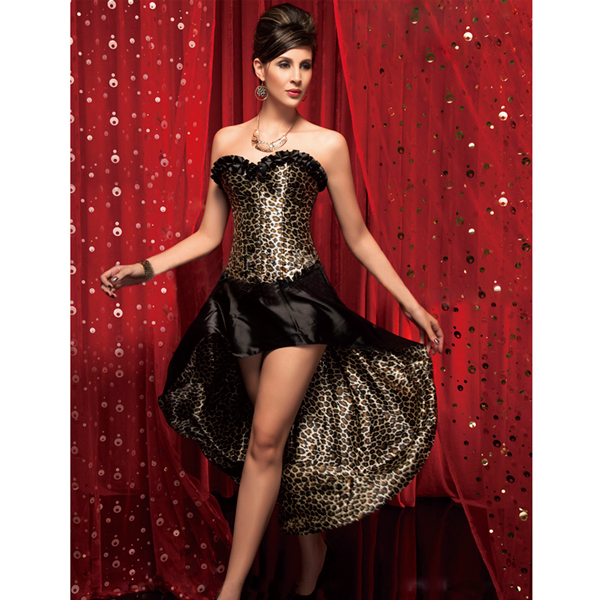 Wholesale Leopard Corset & Long Skirt CPS512