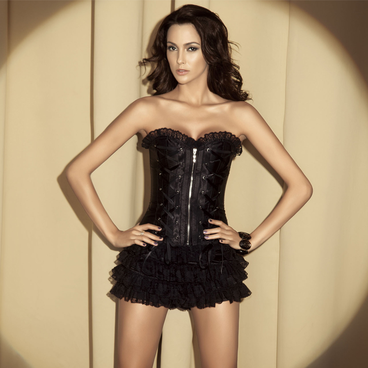 Wholesale Strapless corset & shorts CPS518