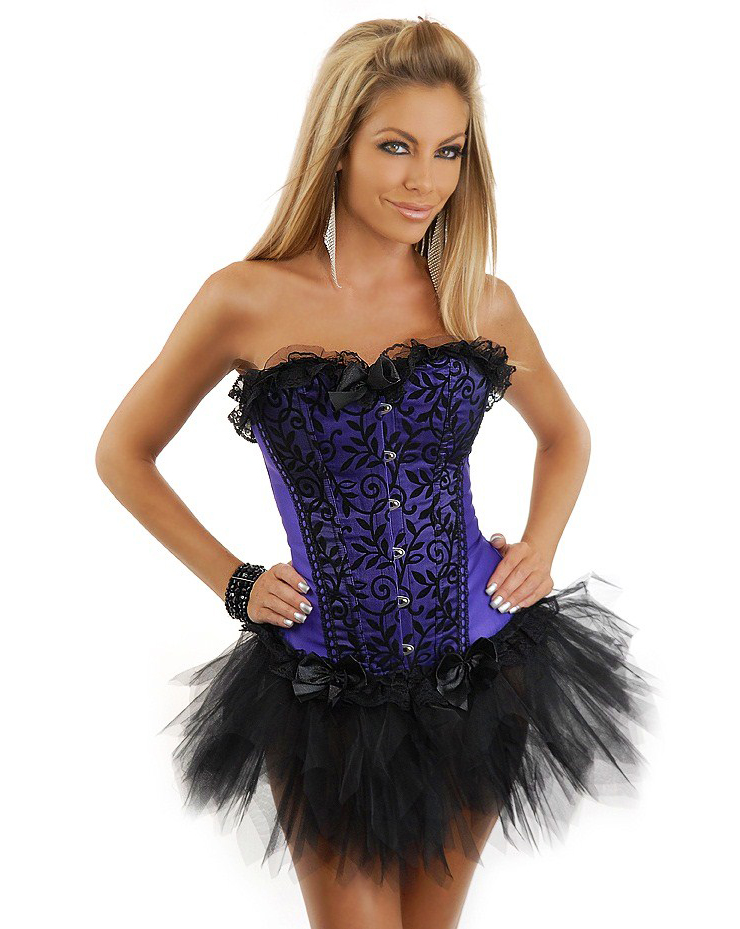 Wholesale Velvet Vines Corset & Pettiskirt CPS588