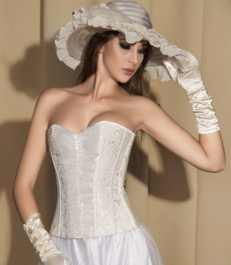 Wholesale Brocade Bridal Corset OUC752