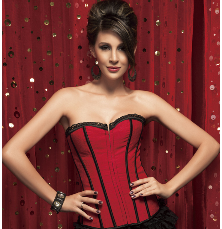 Wholesale Brocade Corset OUC768