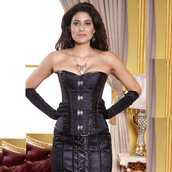 Wholesale Brocade Ring Sides Corset OUC588