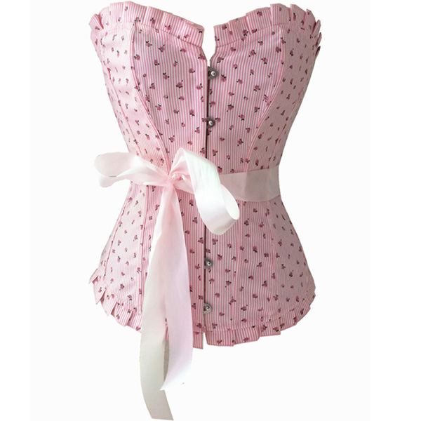 Wholesale Charming Pink Little Flower Corset OUC501