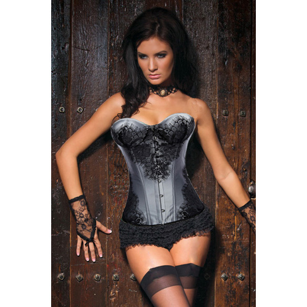 Wholesale Classical Lace Overlay Corset OUC872