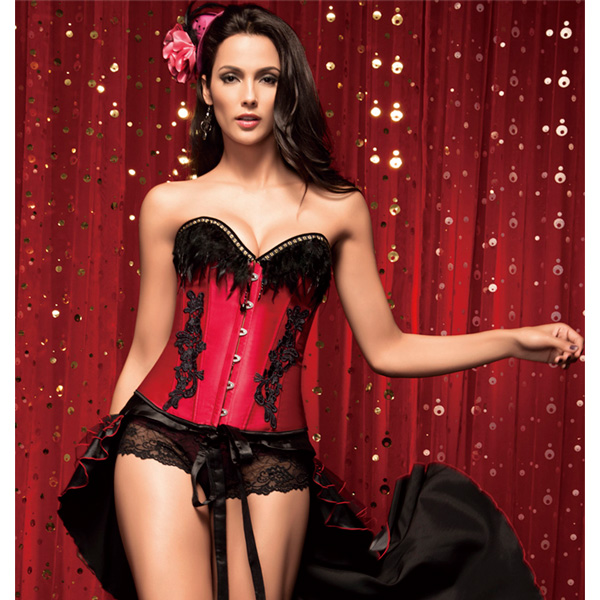 Wholesale Corset with Feathers OUC759