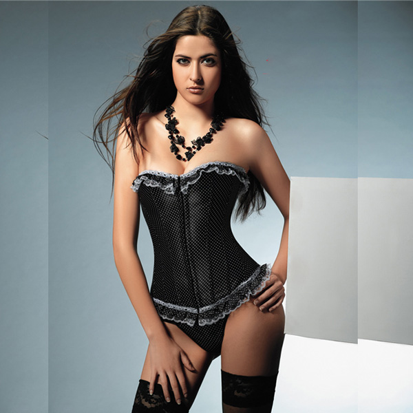 Wholesale Polka Dot Corset OUC1093