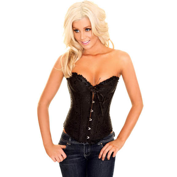 Wholesale Embroidered Burlesque Corset OUC976