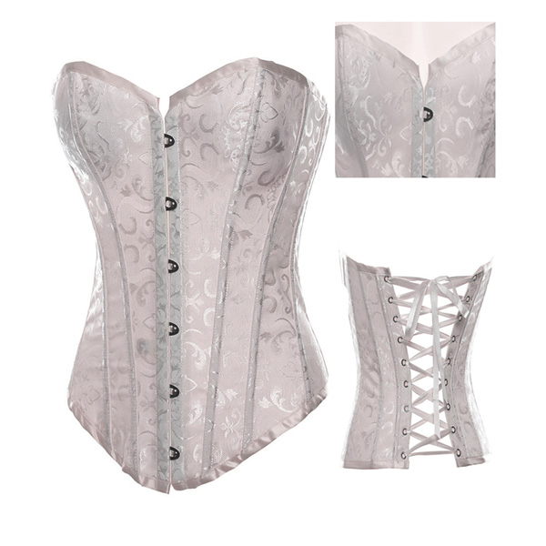 Wholesale Embroidered satin Adult corset OUC1008