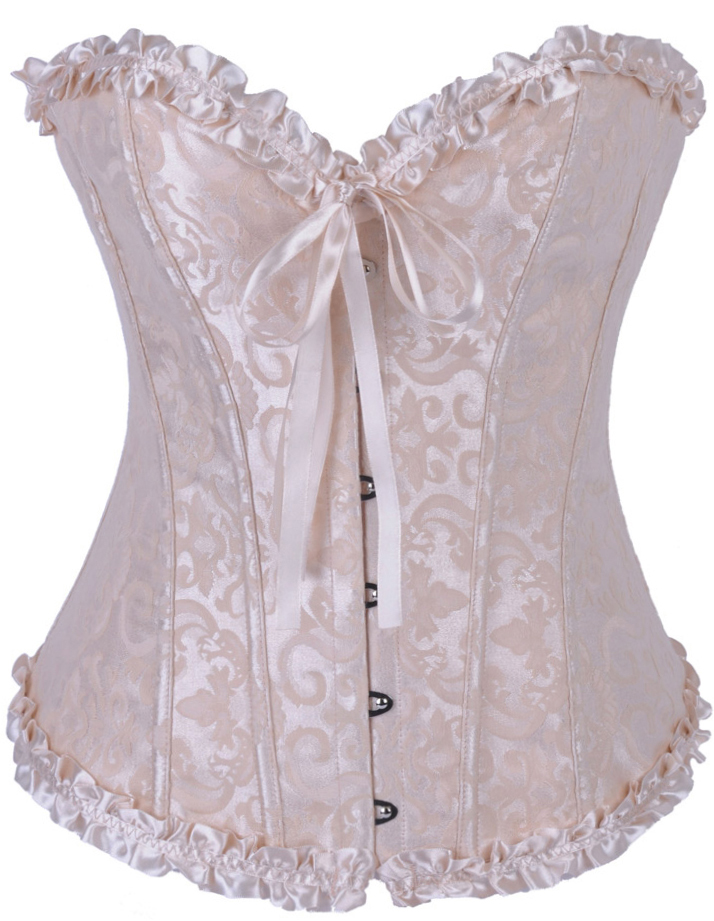 Wholesale Gothic Brocade Corset Ivory OUC960