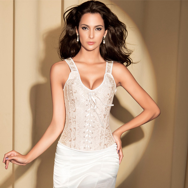 Wholesale Halter Brocade Bridal Corset OUC705
