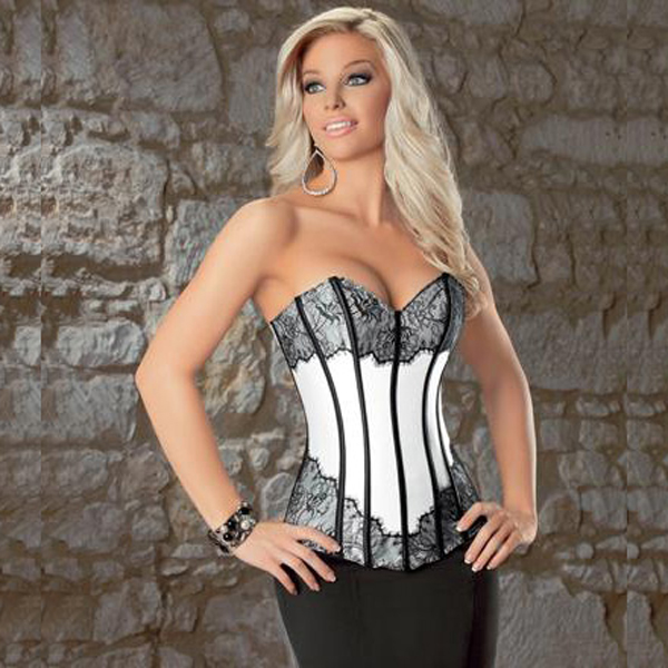 Wholesale Lace & Satin Corset OUC568