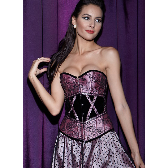 Wholesale Lace & Velvet Corset OUC529