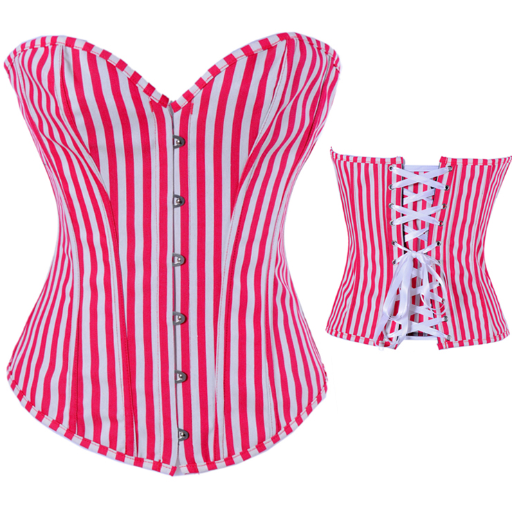 Wholesale Red and white streak corset OUC713