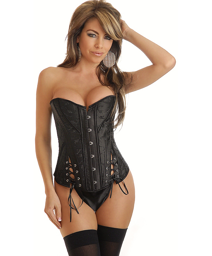Wholesale Rocker Chic Lace-Up Corset OUC878