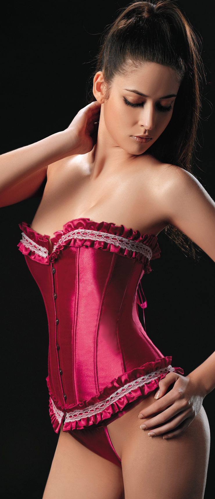 Wholesale Ruffled Corset OUC1117