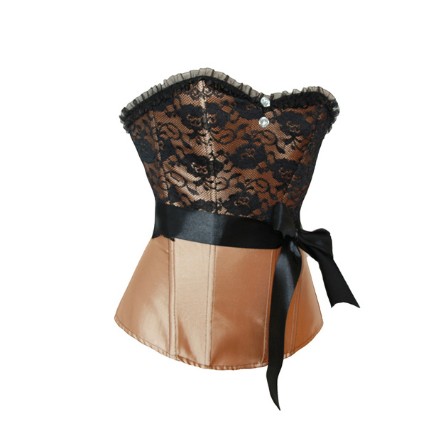 Wholesale Satin & Lace Corset OUC1009