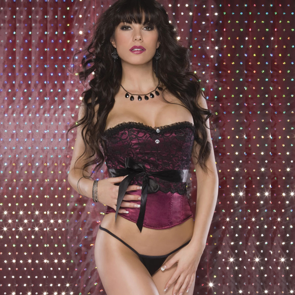 Wholesale Satin & Lace Corset OUC1014