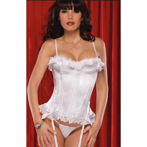 Wholesale Satin & mesh Corset OUC1095
