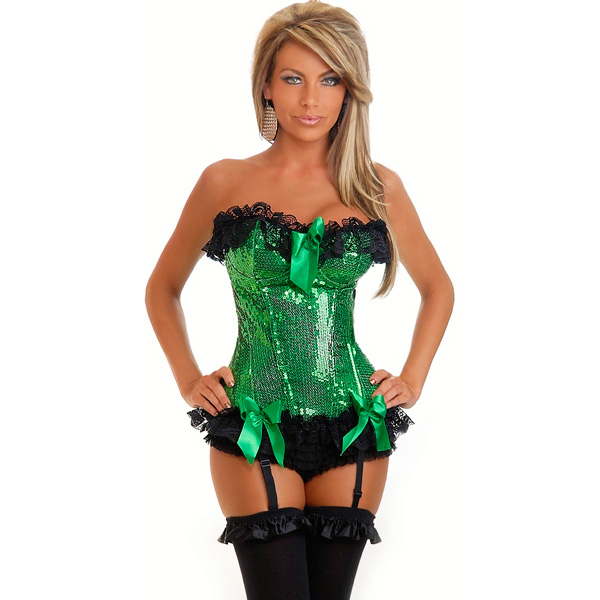 Wholesale Sequin Burlesque Underwire Corset OUC883