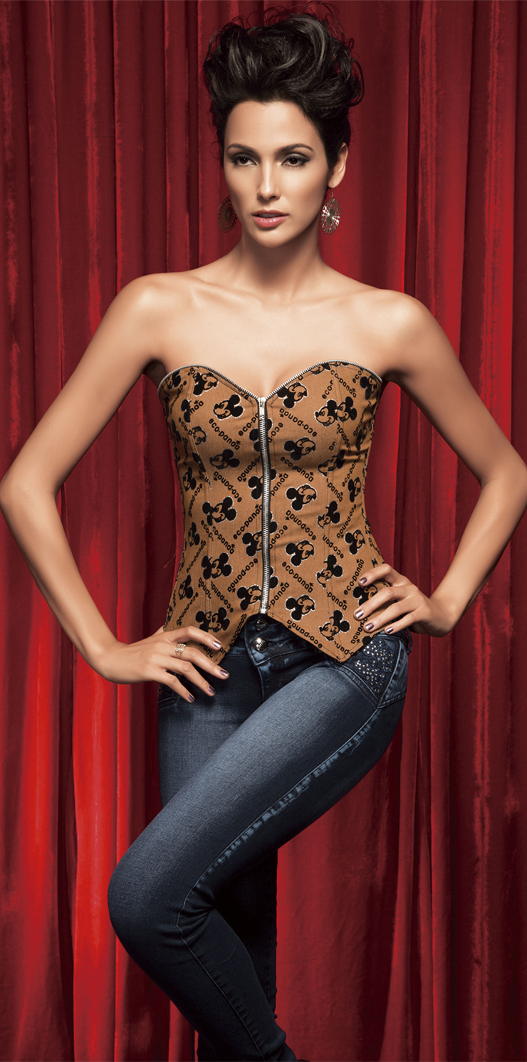 Wholesale Sexy Print Mouse Corset OUC668