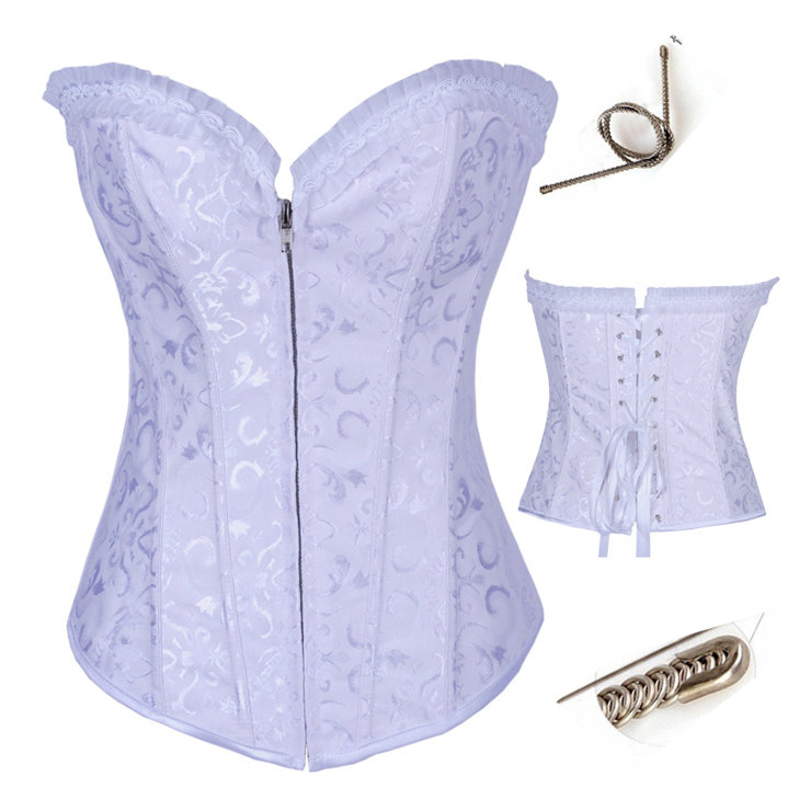 Wholesale Steel Boning Zipper Corset OUC967