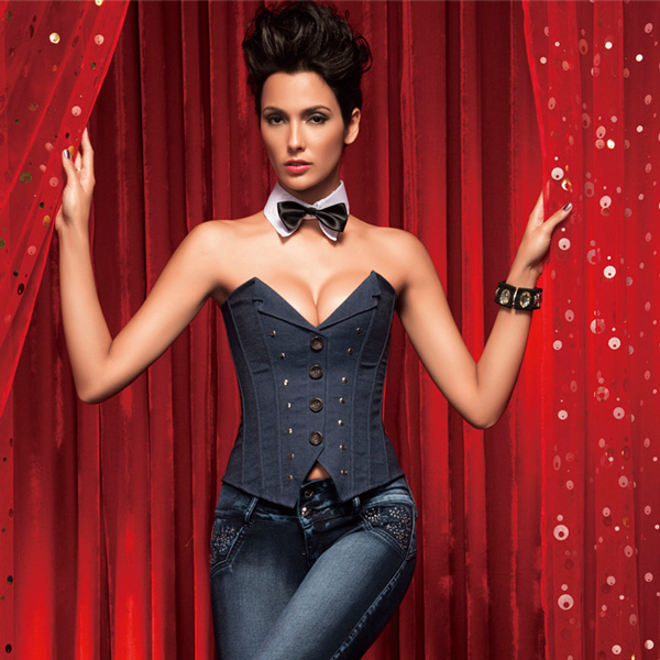 Wholesale Strapless Denim Corset OUC666