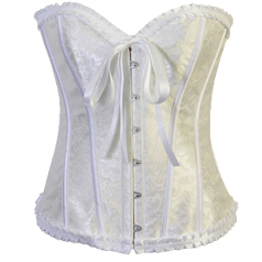Wholesale Strapless White Burlesque Corset OUC863