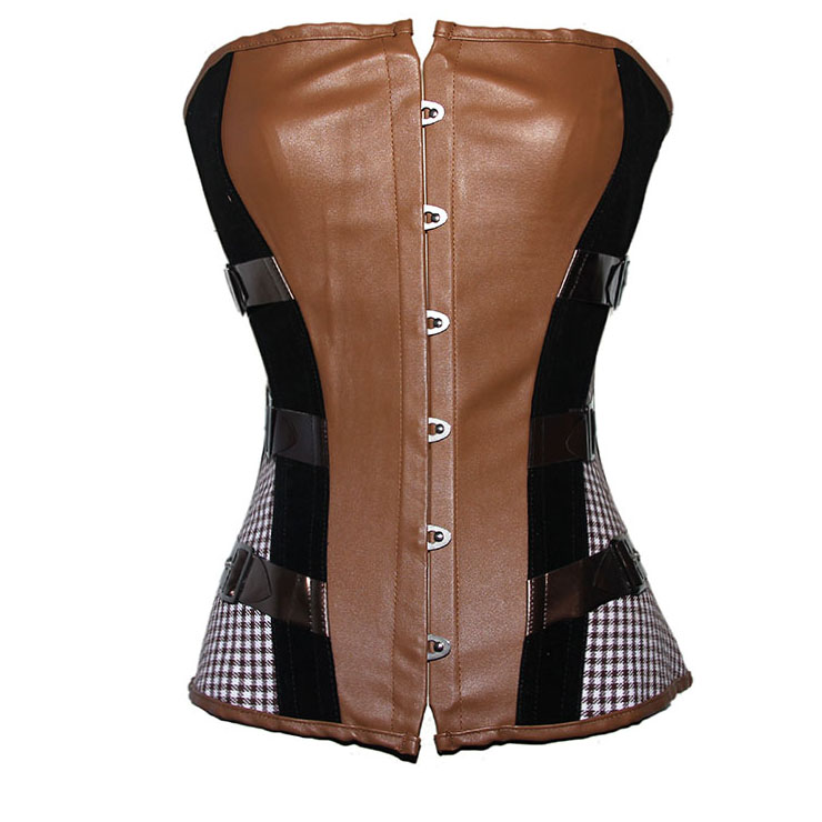 Wholesale Streampunk Vegan Leather Corset OUC673
