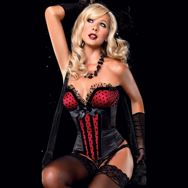 Wholesale Stretch Fishnet Corset OUC933