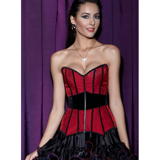 Wholesale Stunning Surround Red Corset OUC524