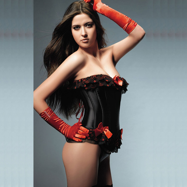 Wholesale black and red lace up corset OUC1049
