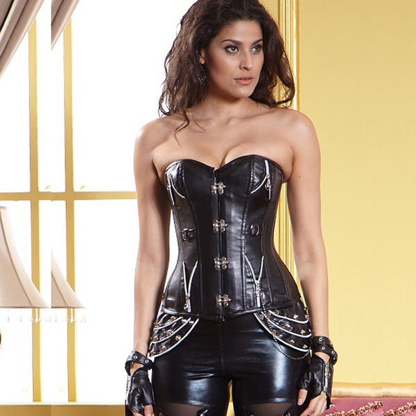 Wholesale 1PC Leather Steampunk Corset PLC501