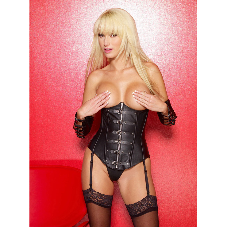 Wholesale Cupless leather corset PLC595