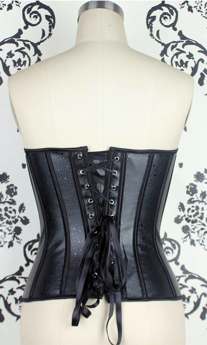 Wholesale Faux Leather Strapless Corset PLC562