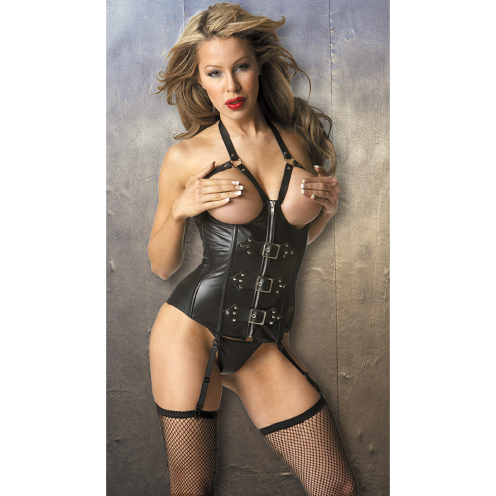 Wholesale Leather Cupless Corset by Allure PLC593