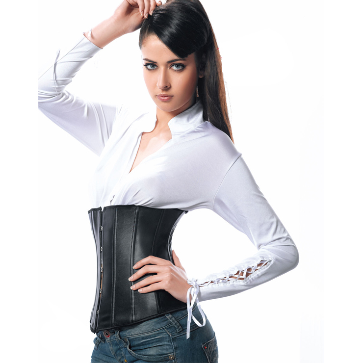 Wholesale Leather underbust corset PLC597