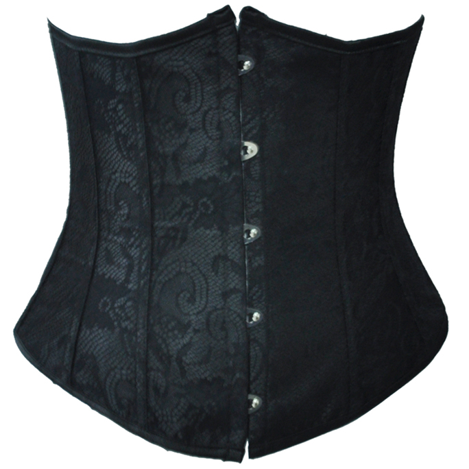 Wholesale Black Lace Underbust Corset UNC541