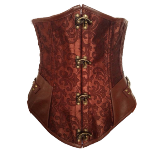 Wholesale Brown Steel Boned Steampunk Underbust UNC514