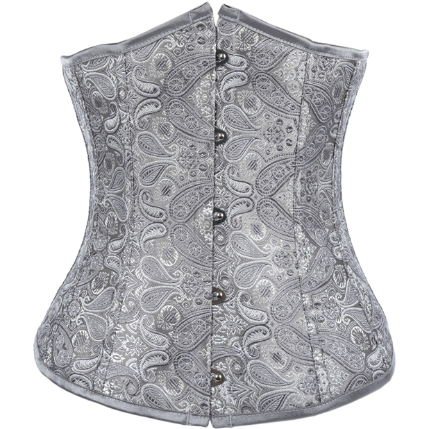 Wholesale Spell Binding Satin Brocade Underbust Corset