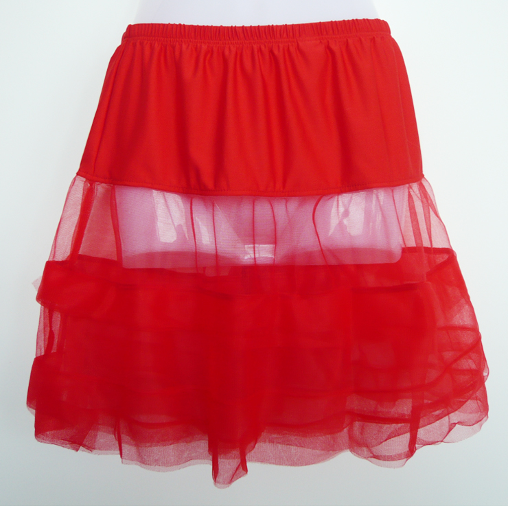 Wholesale Satin trimmed petticoat SEP573
